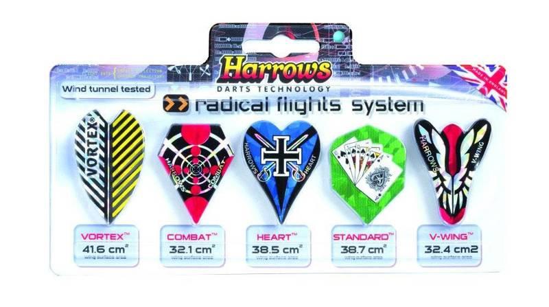 Zestaw piórek Harrows System Radical Flights 5x3
